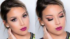 Cat Eye + Berry Lips Tutorial