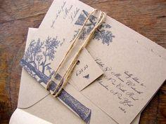 Rustic Wedding Invitation Evergreen Wedding by BirchandBliss, $50.00