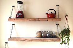 Rustic Barnwood Shelf  Industrial Steel Shelf by SummervilleDuke