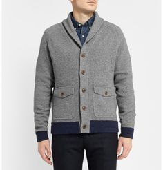 j.crew wallace & barnes suede elbow patch cardigan