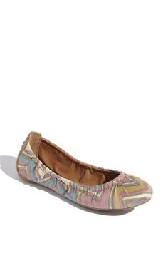 Lucky Brand 'Erla' Flat. $59 Love the satin finish. gives it a more luxe feel.