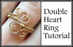 awesome DIY Bijoux - Easy Jewelry Tutorial : Double Heart Ring Wire Wrapped