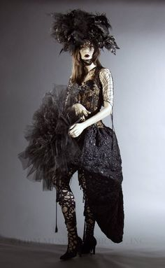 Fashions From History Online Collections, 2000s Fashion, Christian Louboutin Shoes, Goth, History, Gallery, Dresses, Style, Gothic