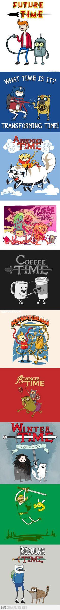 Adventure Time (mashups) - Jon Snow and Ghost :) @Emily Trombley