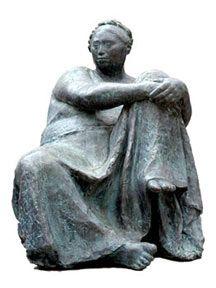 """""""Juchiteca Sentada""""  sculpture en bronze de Francisco Zúñiga, 1974 - https://fr.wikipedia.org/wiki/Juchit%C3%A1n_de_Zaragoza"""