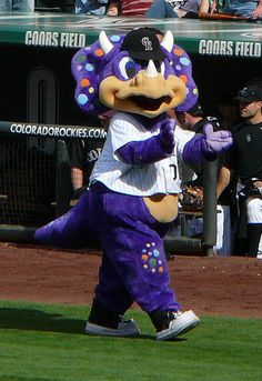 Dinger (Colorado Rockies) FYI three triceratops fossils were found under home plate during building of Coors Field.
