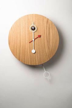 'cipasso clock - natural wood' designed by marco marzini for diamantini & domeniconi