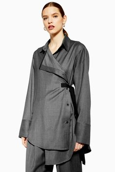 1f28381d546   Tailored Wool Wrap Shirt by Boutique - Shirts  amp  Blouses - Clothing -