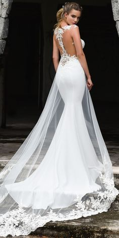 733a40ea56a6 Fashionable Tulle & Acetate Satin Jewel Neckline Mermaid Wedding Dress With  Beaded Lace Appliques & Detachable