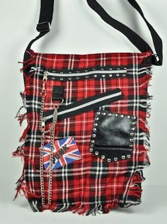 Red Plaid 50s Skull Punk Bag Purse British Deathrock Oi by Dysfunctional Doll - Bags, http://www.amazon.com/dp/B004MCYCEC/ref=cm_sw_r_pi_dp_dP72pb1ZWY4KE