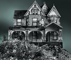 Enormous, Spooky Lego Victorians by Mike Doyle | Colossal