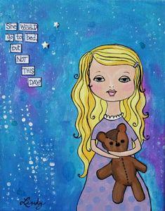 Kids Canvas Art, Mini Canvas, Canvas Artwork, Mixed Media Painting, Mixed Media Canvas, Toddler Sleep, Hand Sketch, Acrylic Canvas, Art Girl