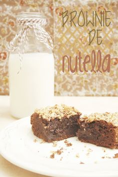 Recepte de brownie de nutella