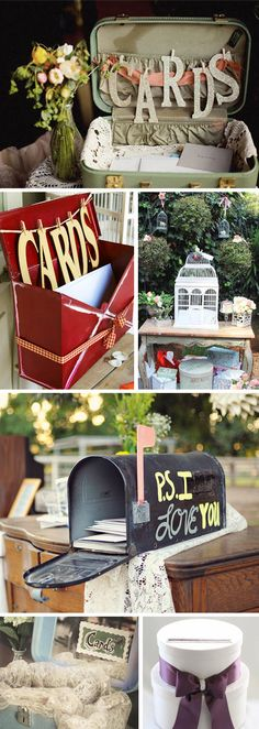 cards - I like the luggage and the mailbox... Now, how to work that into a love story (book) theme...