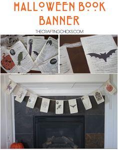 Love this fun Spooky Book Banner using the Cricut Explore. What a fun, easy idea! #thecraftingchicks