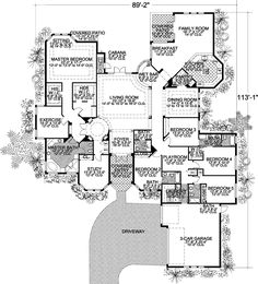 Luxury Style House Plans - 6909 Square Foot Home , 2 Story, 5 ...
