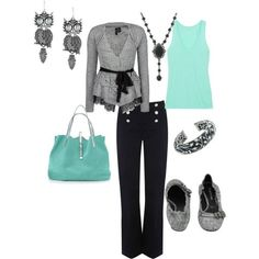 fall outfits aqua gray | Outfit | My Style | Pinterest