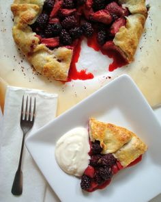 A Spicy Perspective Mixed Berry Crostata with Lemon-Honey Ricotta Cream - A Spicy Perspective