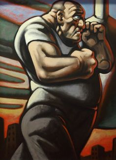 PETER HOWSON OBE (Scottish b. 1958) - PUGILIST