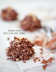 does anyone know what's the name of this font, that says 'nutella no-bake cookies'?