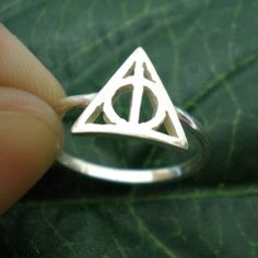 deathly hallows ring | Deathly Hallows Triangle Harry Potter Ring