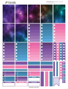 FREE PLANNER STICKERS | Bando - Another Galaxy Set - Printable Stickers by 38.Visuals #free #plannerstickers #planner #stickers #addict #community #freebie