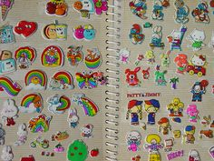 I loved my sticker albums!  And I loved rainbow stickers!