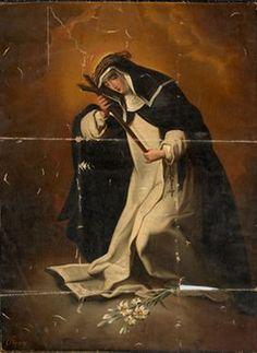 St. Catherine of Siena | http://www.saintnook.com/saints/catherineofsiena - File:Mihael Stroj - Sv. Katarina Sienska.jpg