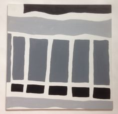 Grey Scale Composition Painting, by Joelle Finfe.