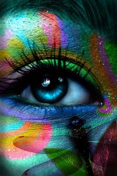 004 Rainbow Colours Image unattributed at time of upload World Of Color, Color Of Life, Look Into My Eyes, Eye Art, Eye Make Up, Cool Eyes, Beautiful Eyes, Beautiful Things, Face And Body