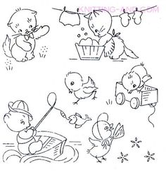 Free Embroidery Patterns: Small Children's Designs