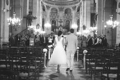 Wedding Ceremony Black & White | Claire Eliza | Bridal Musings