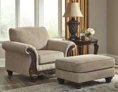 Laytonsville - Pebble - Chair by Signature Design by Ashley. Get your Laytonsville - Pebble - Chair at Railway Freight Furniture, Albany GA furniture store. Ottoman, Signature Design By Ashley, Chair And Ottoman, Bright Furniture, Chair, Furniture, Parks Furniture, Accent Chairs, Value Furniture