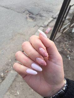 Pin by Lisa Firle on Nageldesign - Nail Art - Nagellack - Nail Polish - Nailart - Nails Cute Acrylic Nails, Cute Nails, Pretty Nails, Acrylic Art, Gold Nail Designs, Acrylic Nail Designs, Nails Design, Rose Gold Nails, Pink Nails
