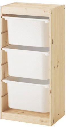 Compact recycling bin idea using Ikea's Trofast storage