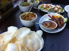 Rijstaffel sample lunch - indonesian