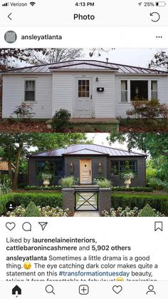 home remodel exterior curb appeal Home Exterior Makeover, Exterior Remodel, Exterior House Colors, Exterior Design, Grey Exterior, Home Renovation, Home Remodeling, Basement Renovations, House Makeovers