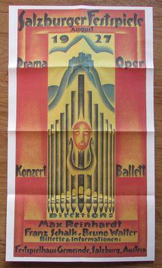 SALZBURGER FESTSPIELE PLAKAT 1927 Faksimile Druck Theater Drama Oper Ballett | eBay Travel Posters, Austria, Theater, Opera, Drama, Art, Prints, Communities Unit, Recital
