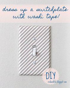 washi tape on light switch