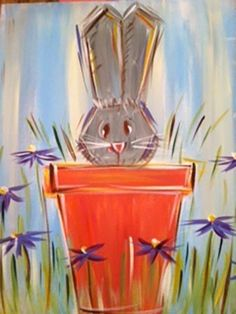 Get ready for Sprimg. #Paint this bunny at our next Corks & Canvas class Tuesday March 17,2015, 6-8 pm. RSVP: 817-573-7200. All supplies and instructions provided plus a glass of wine. All for $35/person. Grab your #girlfriends and get ready for Easter