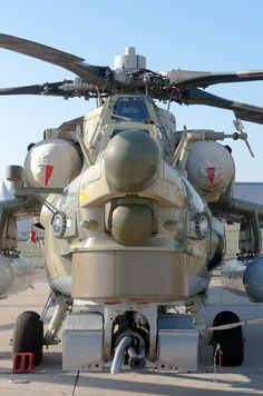 MI-28 Helicopter in Macro