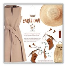 Celebrate the Earth by fassionista on Polyvore featuring polyvore fashion style Paule Ka Aquazzura Mata Traders Toast WALL Zoffoli clothing natural earthday fashionset hugatree