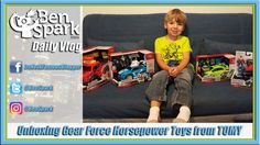 Unboxing Gear Force Horsepower Toys from TOMY  TOMY sent us four Gear Force Horsepower Toys for free to play with and review. This video is of our honest opinions on the toys.  Gear Force are a series of vehicles that come with 2 inch action figures, tools and swappable gear that can be used on other vehicles. Many of the vehicles have lights and sounds. We received the Ford F-150 Raptor, the Honda Civic Type R, The Ford Mustang GT and the Polaris RZR. #ad