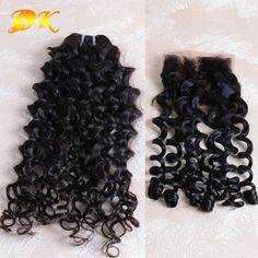 Indian Virgin Hair With Closure Weaves Unprocessed Indian Italian Curly with Closure 7A Human Hair Weave Indian Hair Extension  //Price: $US $205.90 & FREE Shipping //     #fashion #women #wig #wigs #hair #blond #darkhair #beauty #style Hair Extensions Prices, Black Hair Extensions, Indian Hairstyles, Weave Hairstyles, Closure Weave, Womens Wigs, Wigs For Black Women, Beauty Style, Virgin Hair