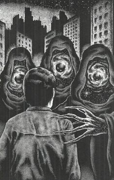 Ceux dont on ne se souviens jamais Arte Horror, Horror Art, Maleficarum, Lovecraftian Horror, Dark Drawings, Macabre Art, Occult Art, Unusual Art, Dark Art