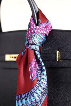 Tie rack women's scarves on Hermes bag | House of Beccaria~