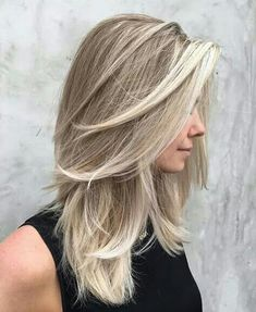 Soft layers and face framing balayage