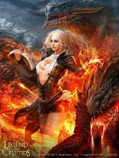 f Wizard Warlock Leather Armor Magic Book Dragon Friends Wilderness Fire Magma Volcano story Legend of the Cryptids by Shin Tae Sub lg Fantasy Girl, Fantasy Art Women, Dark Fantasy Art, Fantasy Artwork, Fantasy Characters, Female Characters, Character Inspiration, Character Art, Character Concept