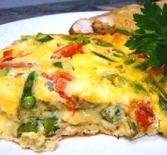 "Asparagus, Tomato & Fontina Frittata: ""Delicious, easy to make, and makes a beautiful presentation!"" -921989"