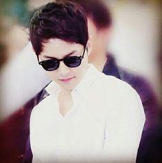 Black glasses  so cool,handsome